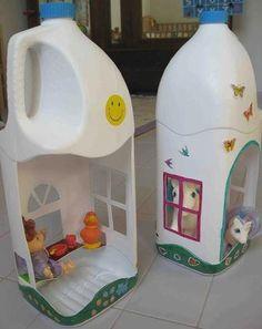 casita de muñecas bote leche