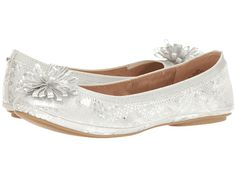 8c0fc51ce34 Bandolino Womens 10 M Silver Ballet Flats Shoes Bow Vamp Decor