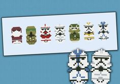 Star Wars Clone Troopers parody - Cross stitch PDF pattern by cloudsfactory on Etsy