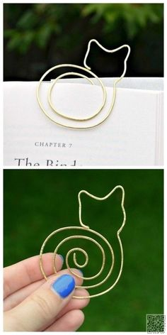 13. DIY Cat #Bookmark - 33 Awesome Wire #Crafts to Make Cool Stuff ... → DIY #Wrapped