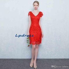 Sexy Red Lace Cocktail Dresses Short Summer Party Dresses Cap Sleeve Short Lace Party Dresses Royal Blue,Champagne 2016 Cocktail Dresses Sexy Cocktail Dresses Royal Blue Cocktail Dresses Online with $99.0/Piece on Lpdress's Store | DHgate.com