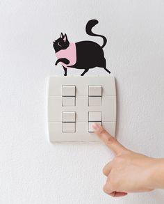 [바보사랑] 도도한 고양이 한 마리 키워보실래요? /스티커/일러스트/월데코/캐릭터/포인트/홈데코/인테리어/Sticker/illustration/wall/Deco/point/character/Interior