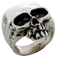 Medium Skull - Sterling Silver Ring: Jewelry: Amazon.com