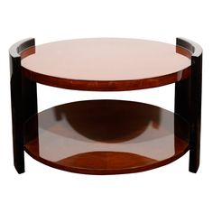 1930s Art Deco Two Tier Round Occasional or Cocktail Table