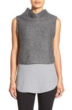 Eileen+Fisher+Funnel+Neck+Sleeveless+Merino+Crop+Top+available+at+#Nordstrom