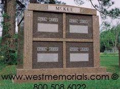 McKee Family Mausoleums by West Memorials 2017 Design, Beautiful Birds, Granite, Floral Arrangements, Hand Carved, Bronze, Memories, Simple, Frame