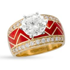 River Of Love Ring With Pavè Round Brilliant Edge. Santa Fe Goldworks, David Griego Designs