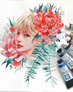 If you follow me on Twitter you probably know that I'm playing Superstar BTS a lot right now (btw, follow me there! I post some wips and random stuff sometimes it's twitter.com/ashiyaart). so while I was playing I've got randomly inspired to draw Kim Taehyung's fanart so I just couldn't resist you know how rarely I draw fanarts and more like... realistic portraits so yeah, it was pretty suddenly. Also it's filmed and will be posted on Sunday on my channel!