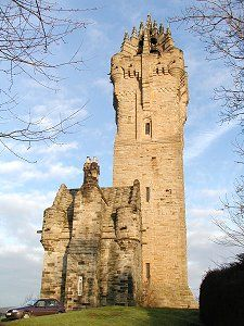 The Wallace Monument on Abbey Craig near Stirling - commemorates Sir William Wallace, (1267 - 1305) the Scottish hero - completed in 1869, it is 220 feet high