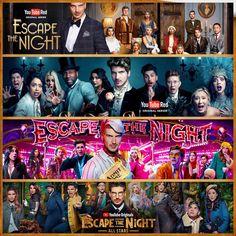 Escape The Night, Youtube Original, Caspar Lee, Ricky Dillon, Joey Graceffa, Jc Caylen, Connor Franta, Joe Sugg, O2l
