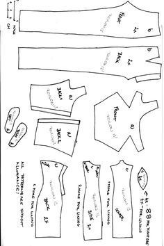 barbie clothes patterns free printable | Sewing Barbie Doll Clothes ...