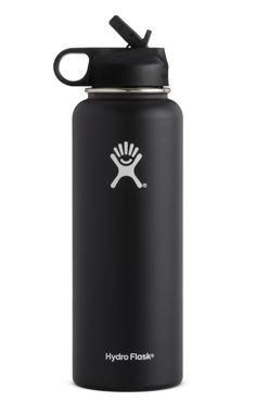 Etchd Stainless Steel Sports Water Bottle Double Wall Vacuum Insulated 32 oz Wide Mouth and BPA-Free Straw Lid