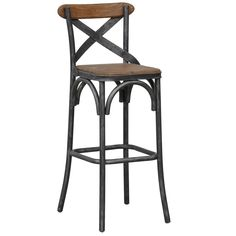 "The cottage-style inspired Powell Stool features a time honored craftsmanship with a unique appeal. Unsurpassed for a fashionable mix of old, reclaimed and new. Its smooth dark metal frame is intricately pieced around natural wood seating and a slim natural wood back. Classic Concepts captures the understated character of American cottage design with this old-fashioned and adorable creation. Powell stool. Counter Stool - 18""W x 17""D x 36""H (Seat Height of 24"") Bar Stool - 18""W x 17""D x 42""H…"