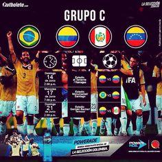 Listo el calendario de mi #seleccioncolombia para la #copaamerica2015 #fuerzatricolor
