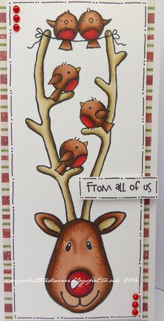 Tonights cards are using the fab Woodware Reindeer and Snowman stamps. These are great stamps for quick and easy cards . Christmas Cards 2018, Stamped Christmas Cards, Christmas Card Crafts, Homemade Christmas Cards, Xmas Cards, Homemade Cards, Handmade Christmas, Christmas Art, Xmas Theme