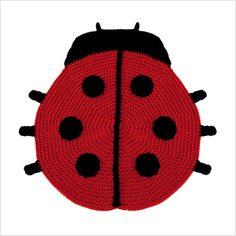 crochet ladybug rug
