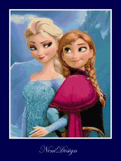 Hey, I found this really awesome Etsy listing at https://www.etsy.com/listing/193078514/cross-stitch-pattern-elsa-and-anna