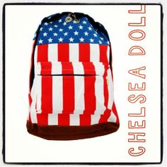 Chelsea Doll stars and stripes backpack!