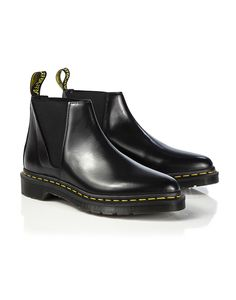 Dr Martens Women's Bianca Low Shaft Zip Chelsea Boots - Black Polished Smooth