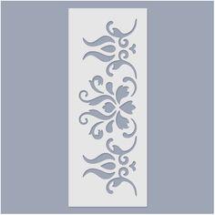 Magyaros sorminta, 9,5x24 cm 3D stencil Stencil Wall Art, Damask Stencil, Letter Stencils, Stencil Painting, Ceramic Painting, Laser Cut Stencils, Stencil Templates, Stencil Patterns, Stencil Designs