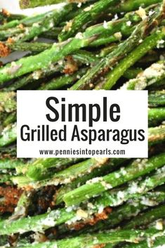 How to make the best tasting grilled asparagus! This is such a simple yet tasty … How to make the best tasting grilled asparagus! This is such a simple yet tasty recipe that your BBQ guests are sure to love! How To Cook Asparagus, Grilled Vegetables, Veggie Recipes, Dinner Recipes, Cooking Recipes, Healthy Recipes, Asparagus On The Grill, Vegetables On The Grill, Chicken