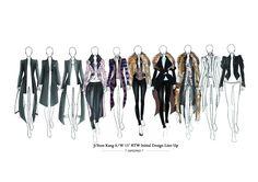 Fashion Sketchbook - fashion illustrations; lineup drawings; fashion portfolio // Ji Yeon Kang