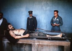 "The body of Ernesto ""Che"" Guevara, the Argentine-born hero of Latin American revolutionaries and six other guerillas are on public display 10 October 1967 in Vallegrande. Guevara was captured by. Get premium, high resolution news photos at Getty Images Fidel Castro Che Guevara, Che Guevara Photos, Bolivia, Cuba Tours, Ernesto Che Guevara, Today In History, History Of Photography, Family Show, Popular Culture"