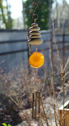Sea Glass Beach, Beach Stones, Copper Hangers, Driftwood Beach, Glass Wind Chimes, Stainless Steel Wire, Handmade Copper, Naturally Beautiful, Antiques