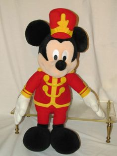 "25"" Large Mickey Mouse Macys Disney Plush Marching Band Drum Leader Collectible"