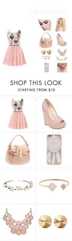 """Spring Date"" by leelee13030 ❤ liked on Polyvore featuring Jessica Simpson, Cult Gaia, Michael Kors, Eddie Borgo and springdate"