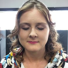 Beautiful makeup on Katey today who was off to her boyfriends deb.