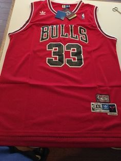 8a53c21ef  NBA  Chicago Bulls  33 Scottie Pippen Adidas Throwback Jersey Men s Size  Xl…