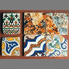 Azulejos decorados a pincel del siglo XVI/XVII, Talavera de la Reina (Toledo)