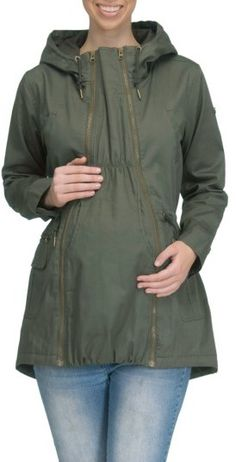 04828b3936c04 Women's Modern Eternity Convertible Military 3-In-1 Maternity/nursing Jacket,  Size Large - Green