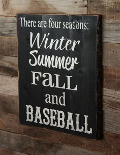Large Wood Sign There are Four Seasons Winter by dustinshelves