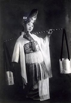 Japan, 1930,  dancer in traditional costume