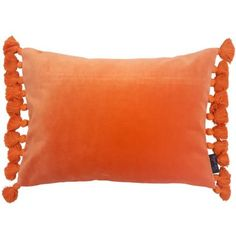 Time to add something a little different to your living space with our stunning Terry Orange Velvet Tassel Cushion. - 100% cotton velvet pile - Size 35cm x 50cm - Zip fastening - Removable polyester inner pad - Dry clean only due to cotton velvet pile - Matching items available
