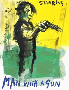 Sef Berkers. STARRING paintings. Man with a Gun, 2020, 65 x 50 cm / 25.5 x 19.5 in. Oil on paper, $ 645.00 Star Painting, Film Images, Human Condition, Film Posters, Human Body, Gun, Paintings, Stars, Paper
