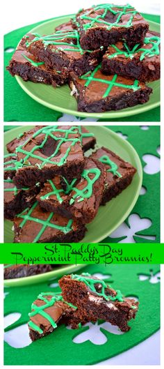St. Paddy's Day Peppermint Patty Brownies! | The Blonde Girl Blog