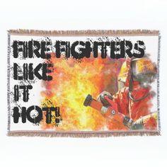 #Firefighters Like It Hot 1 Throw Blanket #fire fighter, #firefighter #firemen #firefighters #firefighters blanket #firefighters throw blanket #firefighter Throw Blanket #firefighter gifts #firefighters gifts #firefighter products #firefighters products #blanket #throw Blanket