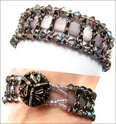 Chain & Tila bracelet  #Seed #Bead #Tutorials