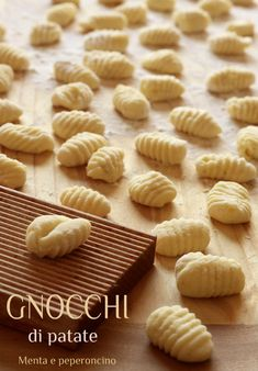 Old Recipes, Italian Recipes, Cooking Recipes, Gnocchi Recipes, Pasta Recipes, Vegetarian Cooking, Appetisers, Mediterranean Recipes, Relleno