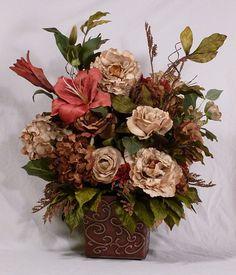 325 best flower arrangements images on pinterest silk flowers art blushingchampagnesilkflowerarrangementbysilverwingsfloral16000 mightylinksfo
