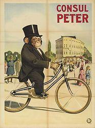debonair monkey, vintage circus poster