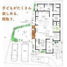 画像に含まれている可能性があるもの:1人 Thing 1, House Layouts, Floor Plans, Diagram, Flooring, How To Plan, Instagram, Ideas, Plants