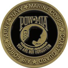 uscg challenge coins reserves   POW MIA Their War is Not Over Challenge Coin - Front Navy Marine, Challenge Coins, Pin And Patches, Usmc, Challenges, Military, War, Personalized Items, American