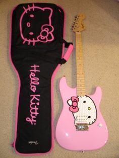 Fender Guitar X Hello Kitty http://guitarclass.org
