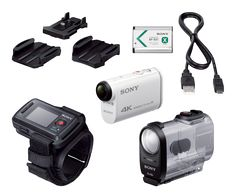 Sony Action Cam + Live View Remote Kit Snag super-smooth video and stunning pics with advanced image stabilization, splash proof body and Live Sports Camera, Wearable Technology, Photography And Videography, Video Camera, Nice Body, Hd Video, Sony, Remote, Pilot