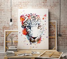 Watercolor jaguar art print - animal print  - panter abstract poster - illustration -Digital wall art Print - painting - Home decor by WatercolorMary on Etsy https://www.etsy.com/listing/268496877/watercolor-jaguar-art-print-animal-print