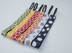 Polka Dot No Slip Ribbon Headband. 7/8 inch. by SewMuchSweeter